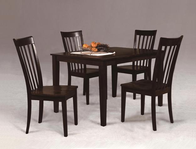 dining room set 5pc brody espresso mcallen furniture