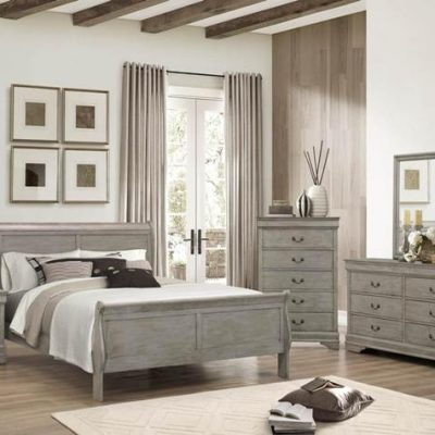 Louis Phillip Queen Bedroom Suite Grey