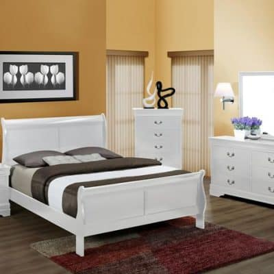 Louis Phillip Queen Bedroom Suite White