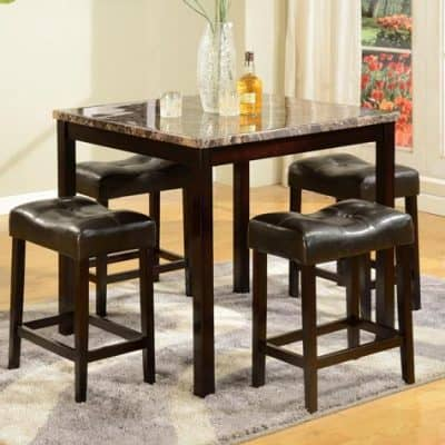 Kinsey 5 Piece Counter Table & Stool Set