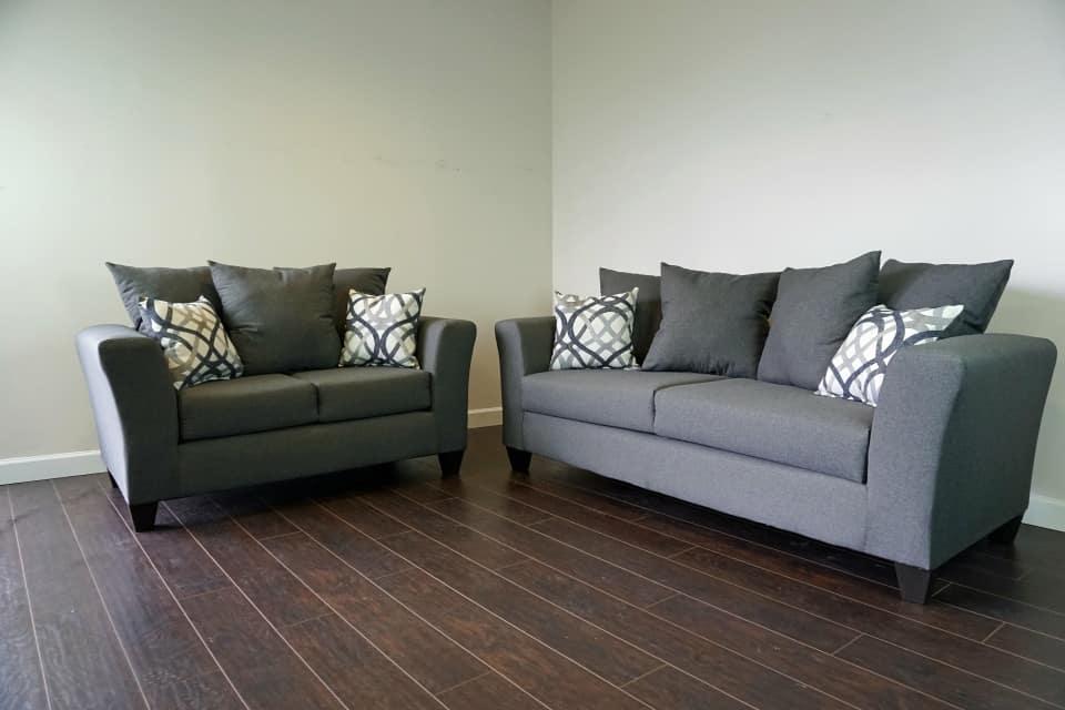 Grey Sofa & Loveseat Set Special