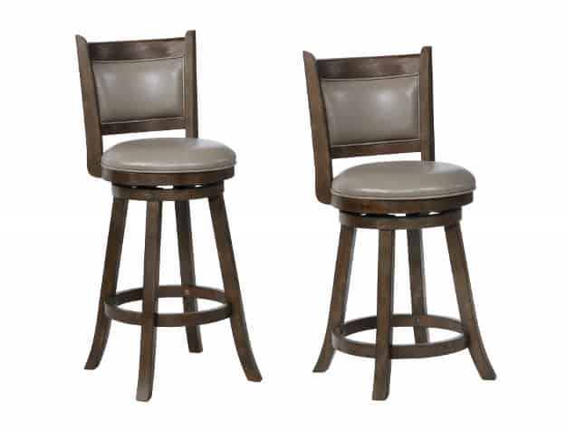 Brilliant Cecil Grey Faux Leather Wood 29 Barstool Forskolin Free Trial Chair Design Images Forskolin Free Trialorg
